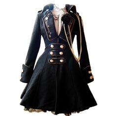 Tumblr ❤ liked on Polyvore featuring dresses, jackets, coats and steampunk