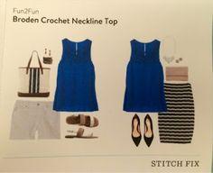 Savanna Styles: Fun2Fun Broden Crochet Neckline Top