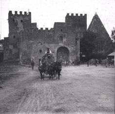 The Pyramid of Cestius and the Porta San Paolo, Rome, c. Ancient Rome, Roman Empire, Archaeology, Old Photos, Retro, Antiques, Places, Animals, Vintage
