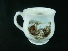 Otter Family Coffee Tea Mug Cup Bone China by Croft China