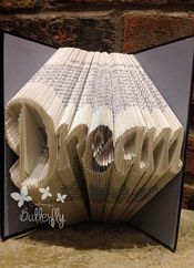 Book Folding Pattern 'Love' PDF & Tutorial - #5623   Stall & Craft Collective