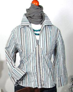 Details zu ALMA MATER Bluse Damenbluse Tunika Oberteil Damen S 36 38 Bunt  Vintage StreifK42 43ba5648c1
