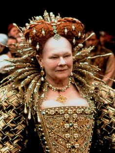 mediumaevum: Judy Dench as Elizabeth in SHAKESPEARE IN LOVE / Costume Design: Sandy Powell