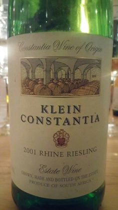 Klein Constantia Estate Constantia Riesling 2001 One of South Africa's finest example  #SouthAfrica #Wine #KleinConstantia #MiguelChan