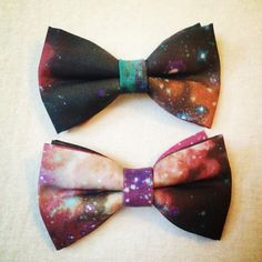 Galaxy Bow Tie- on etsy. If Mike wants to wear a bowtie, he should totally wear this one!!