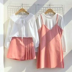 Two tone dress Cute Fashion, Look Fashion, Girl Fashion, Womens Fashion, Fashion Design, Korean Street Fashion, Korea Fashion, Asian Fashion, Girl Outfits