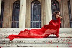 """""""Gone with the wind"""" Red dress"""