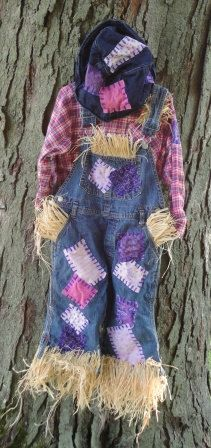 Girls Halloween Scarecrow Costume Pink Purple by MilosCreations, $40.00