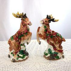 Fitz And Floyd Reindeer Ceramic Christmas Candle Holders `Kris Kringle' 1993  https://www.etsy.com/listing/201922551/ceramic-reindeer-fitz-and-floyd?ref=shop_home_active_14