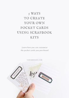 Five Ways To Create Your Own Pocket Cards Using Scrapbook Kits tutorial from Sahin Designs
