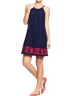 Old Navy | Women's Embroidered Linen-Blend Dresses