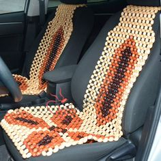 Car Seat Cover Massager Wood Cape Wooden Back