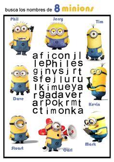 Pasatiempos infantiles: sopa de letras de Los Minions