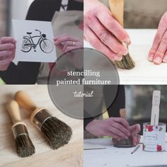 How to Stencil Painted Furniture Tutorial #diy #paintedfurniture #furniturepainting #stenciling #tutorial