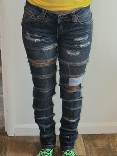 destroyed denim Jeans by MsQueensDesign on Etsy, $20.00