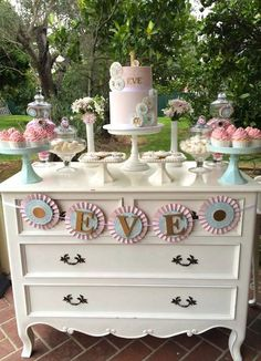Rosette themed 1st birthday party with Lots of Cute Ideas via Kara's Party Ideas | Cake, decor, desserts, favors, games, and MORE! #firstbirthdayparty KarasPartyIdeas.com