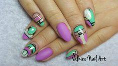 Abstract nails by Valkira - Nail Art Gallery nailartgallery.nailsmag.com by Nails Magazine www.nailsmag.com #nailart