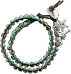 A free DIY bracelet project feauturing lashed leather and turquoise beads from the Rings & Things Design Gallery.  Perfect for cowgirls everywhere.