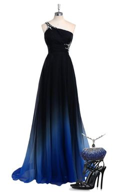 """""""Midnight Gown Galla"""" by amanda-the-geek on Polyvore"""