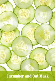 Juicing Cucumber – Benefits For Your Skin-Have u ever wondered why people put slices of cucumbers on their eyes? Cucumber Seeds, Cucumber Water, Cucumber Juice, Cucumber Smoothie, Grape Juice, Mask For Oily Skin, Oils For Skin, Face Scrub Homemade, Homemade Face Masks