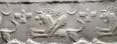 Middle Assyrian Chalcedony Cylinder Seal with a Lion-Dragon, 1300-1200 BC Combining zoomorphic elements, this lively composition shows a fierce lion-dragon, the gaping mouth exposing long pointed t…