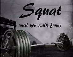 Gym wall decal for for fitness motivation made from removable high quality indoor vinyl.