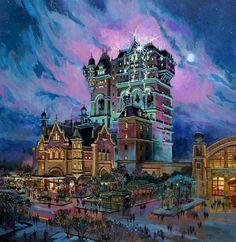 longlivewalt: Tower of Terror concept art - Tokyo Disneysea