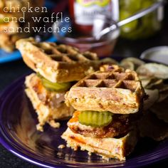 Chicken and waffle sandwiches. An adopted, Southern favorite! | dinner recipe idea from Chattavore.com