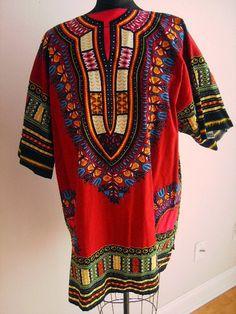 Vintage Men's Shirt Dashiki