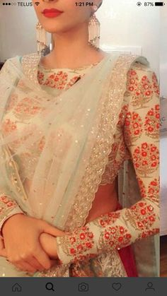 Sleeves and dupatta