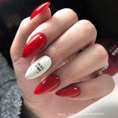 Pin by Анастасия on Маникюр in 2019 Cute Almond Nails, Almond Nail Art, Almond Shape Nails, Latest Nail Art, Cute Acrylic Nails, Nail Decals, Fashion Art, Fashion Design, Nail Arts