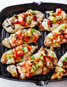 Bruschetta, Mozzarella, Guacamole, Grilling, Food And Drink, Keto, Ethnic Recipes, Google, Gastronomia
