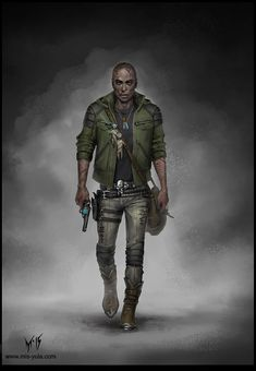 Character Concept Art /So/ by mis-Yula on DeviantArt Apocalypse Character, Apocalypse Art, Character Concept, Character Art, Concept Art, Black Characters, Sci Fi Characters, Shadowrun Rpg, Star Wars Rpg