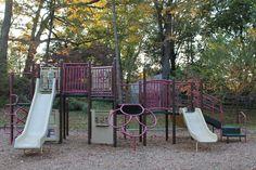 Children's playground in the park behind us.