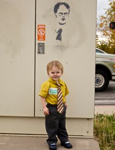 Dwight Schrute!  I think we could handle ALL this guys undivided attention! Baby Halloween Costumes!