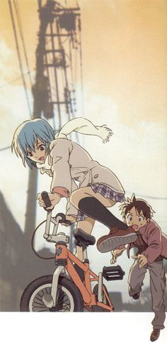 Evangelion - Rei and Shinji
