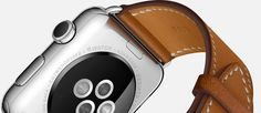 Apple Watch Hermès Single Tour Back.  The Apple Watch now has a timeless new look.  Introduced earlier today during Apple's yearly September presentation, the Apple Watch Hermès collection marks a bold new collaboration between the tech giant and the 178-year-old French luxury house. 11.9. 2015, www.nco.is ,  NCO eCommerce, www.netkaup.is