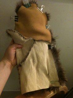 Handmade Beaver Mittens Supplies: 1 Medium tanned beaver Deerskin/Moose/Cowhide -theleatherguy.org has great prices Sinew (Artificial) ...