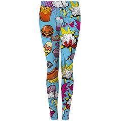 Junk food comic leggings