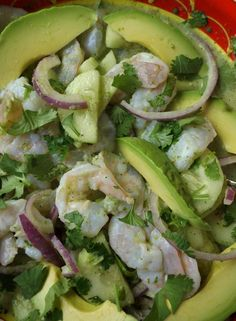 Camarones en Aguachile (Chile Water Shrimp)