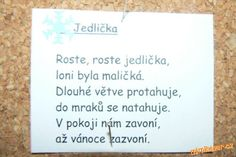 Vánoční básničky Aa School, School Clubs, Jaba, Projects To Try, Christmas, Kids, Inspiration, Literatura, Yule