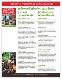 What is #paleo?  I free downloadable PDF from #balancedbites.  #primal #cavemandiet