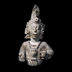 Mayan stone bust of the Maize God