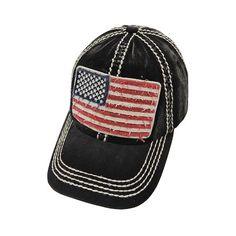 Distressed USA Flag Baseball Hat