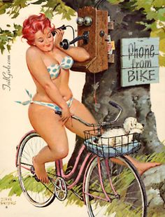 I actually think this is kinda cute... not that I would EVER ride a bike in a polkadot bikini, but this sorta reminds me of me...