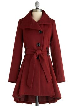 Winterberry Tart Coat, #ModCloth.I love this! perfect for winter paired with a sweater, skinny jeans, and some tall brown boots