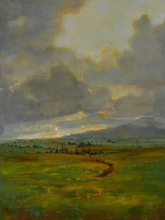 """Julie Houck, Dawn Comes to Paia, oil, 36 x 24. (In August's """"Eyes on the Skies"""" Portfolio)"""