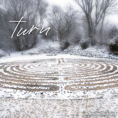 """Each twist and #turn reminds me: ⠀ """"He knows the way that I take [and He pays attention to it]. When He has tried me, I will come forth as [refined] gold [pure and luminous]."""" (Job 23:10) ⠀ #AdventWord #advent #prayerlabyrinth ⠀ [photo: Sheldon 