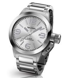 online shopping for TW Steel 'Canteen' Quartz Stainless Watch, Color:Silver-Toned (Model: from top store. See new offer for TW Steel 'Canteen' Quartz Stainless Watch, Color:Silver-Toned (Model: Luxury Watches, Rolex Watches, Watches For Men, Ladies Watches, Stainless Steel Bracelet, Stainless Steel Case, Burberry, Metal Bracelets, Casio Watch