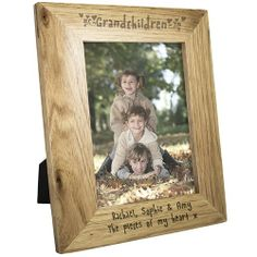 Personalised Grandchildren Oak Photo Frame - 6x4  from Personalised Gifts Shop - ONLY £12.99